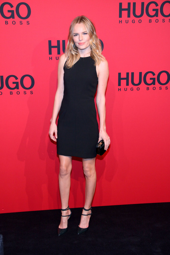 Kate Bosworth looked flawless in an LBD at the Hugo Boss show for Menswear Paris Fashion Week.