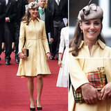 Kate Middleton stunned in a gorgeous long-sleeve yellow dress. Shop these inspired looks now.