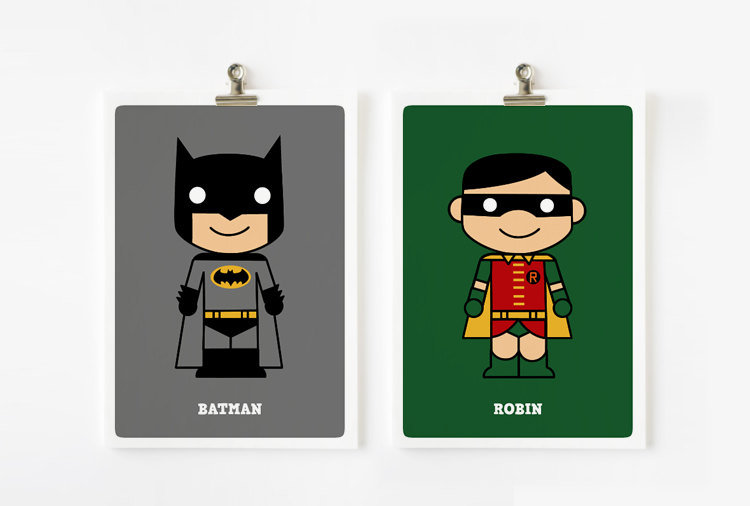Loopz Art Cute Superhero Prints ($28)