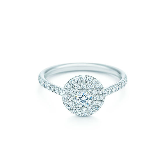 0.47 carat diamond ring, from $5,250, Tiffany & Co.