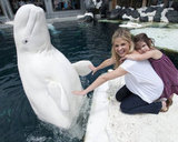 Sarah Michelle Gellar and Charlotte visited SeaWorld in San Diego in July 2012.