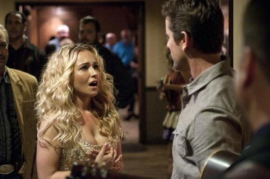 Hayden Panettiere and Charles Esten on Nashville. Photo copyright 2012 ABC, Inc.