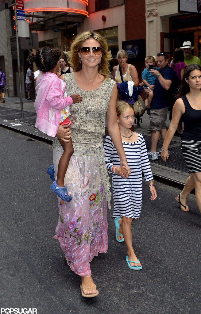 Heidi Klum was all smiles as she hung out with her kids in NYC.