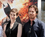 Anne Hathaway and Christian Bale got together in honor of Christopher Nolan's hand and footprint ceremony in LA.