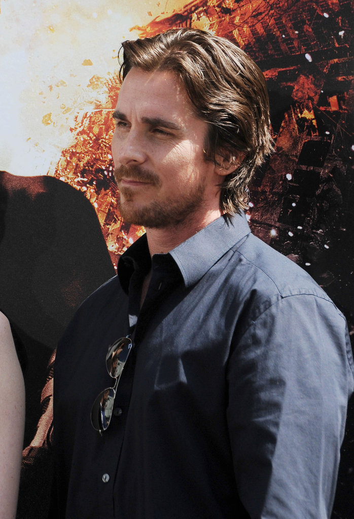 Christian Bale smiled at Christopher Nolan's hand and footprint ceremony in LA.