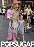 Heidi Klum and her kids Leni and Lou spent the day together in NYC.
