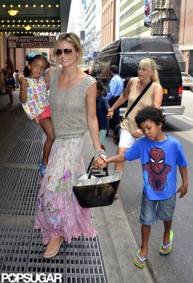 Heidi Klum and Her Kids Hit Broadway For a Family Show