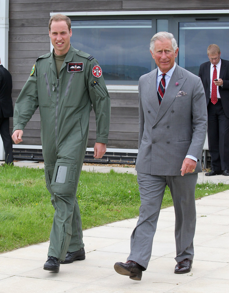 Prince William and Prince Charles spent a day together on the base.