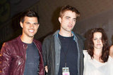 Kristen Stewart, Robert Pattinson, and Taylor Lautner posed together in 2011.