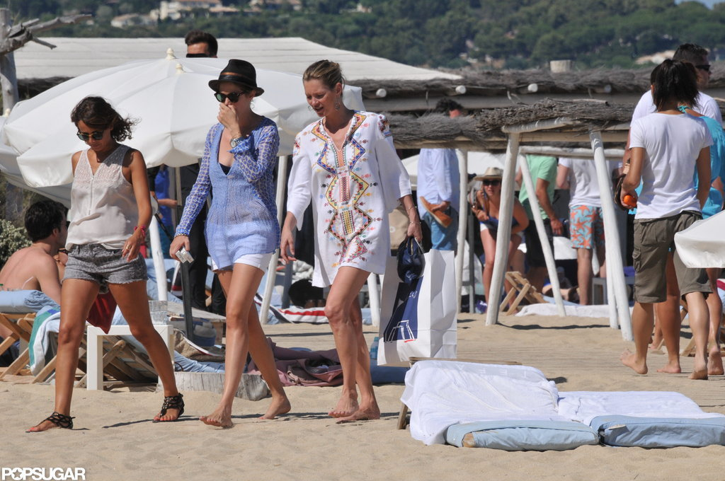 Kate Moss vacationed in St. Tropez.