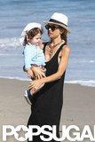 Rachel Zoe took Skyler to the beach in Malibu.