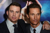 Matthew McConaughey and Channing Tatum hung out at the Magic Mike premiere in London.