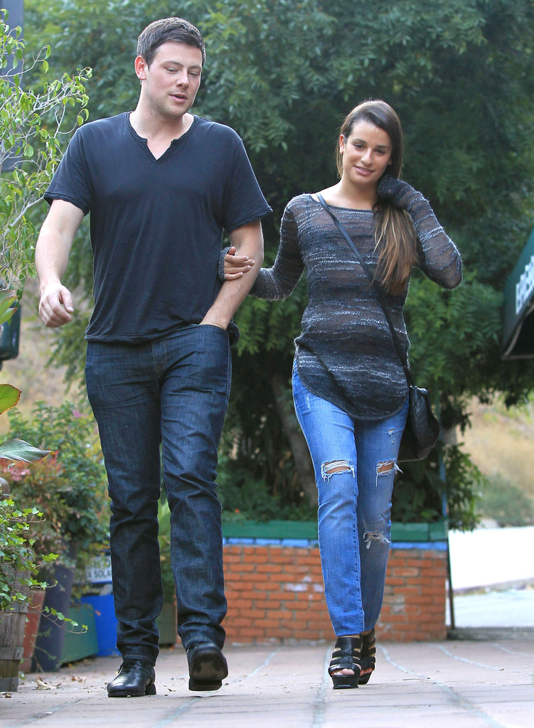 Glee's Cory Monteith and Lea Michele had a midday date.
