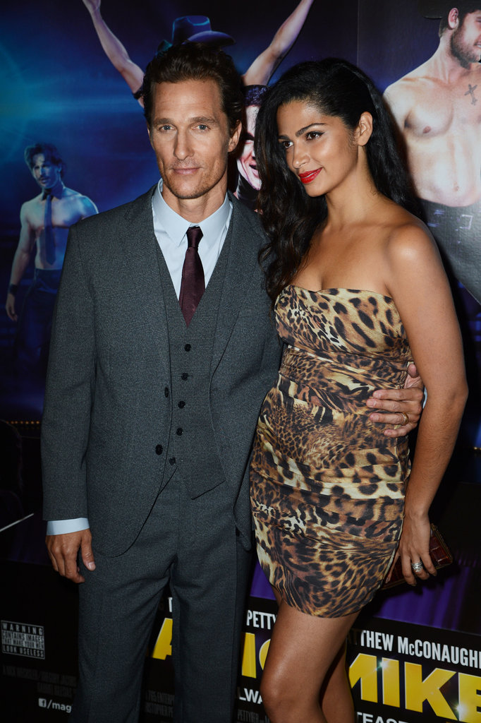 Matthew McConaughey hit the red carpet with pregnant wife Camila Alves for the Magic Mike premiere in London.