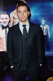 Channing Tatum dressed up in a suit for the Magic Mike premiere in London.