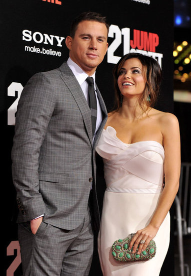 Jenna Dewan showed love for Channing Tatum at the March 2012 premiere of 21 Jump Street in LA.