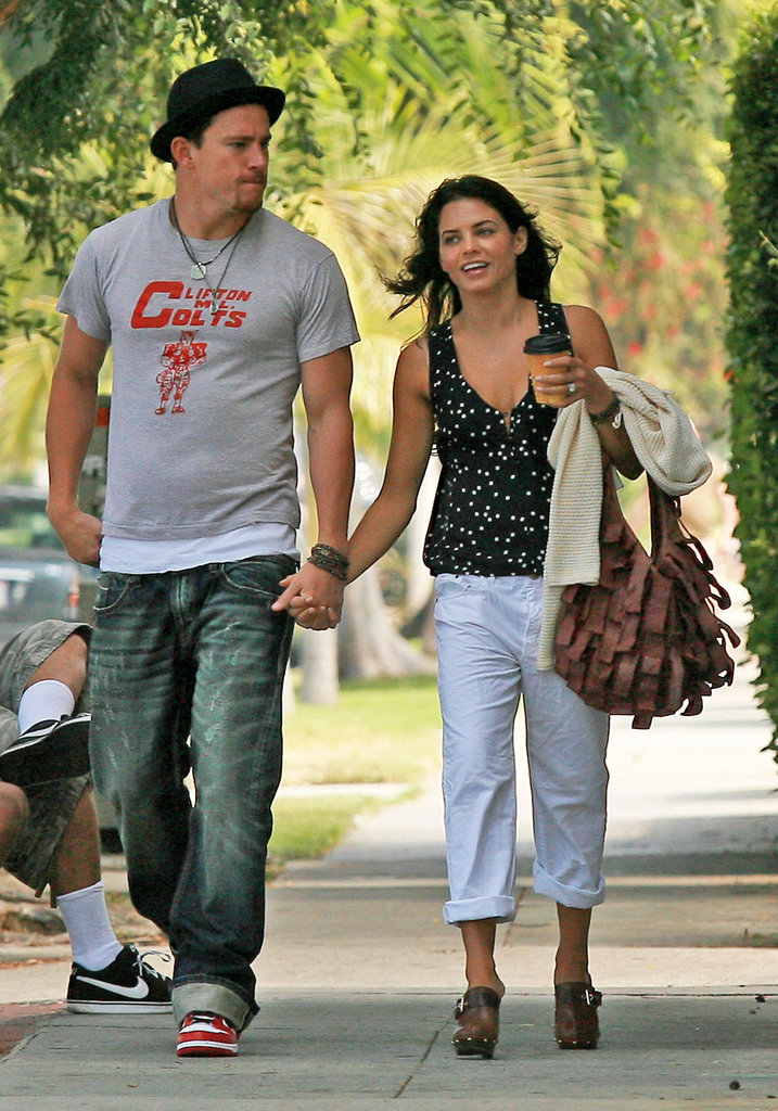 Jenna Dewan held Channing Tatum's hand while walking through LA in July 2010.
