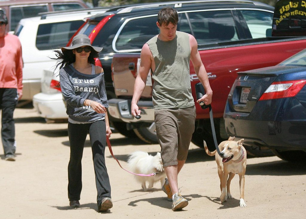 Channing Tatum and Jenna Dewan took their dogs for a walk in LA in May 2010.