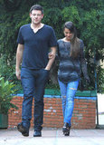 Lunch date for Glee's Cory Monteith and Lea Michele.