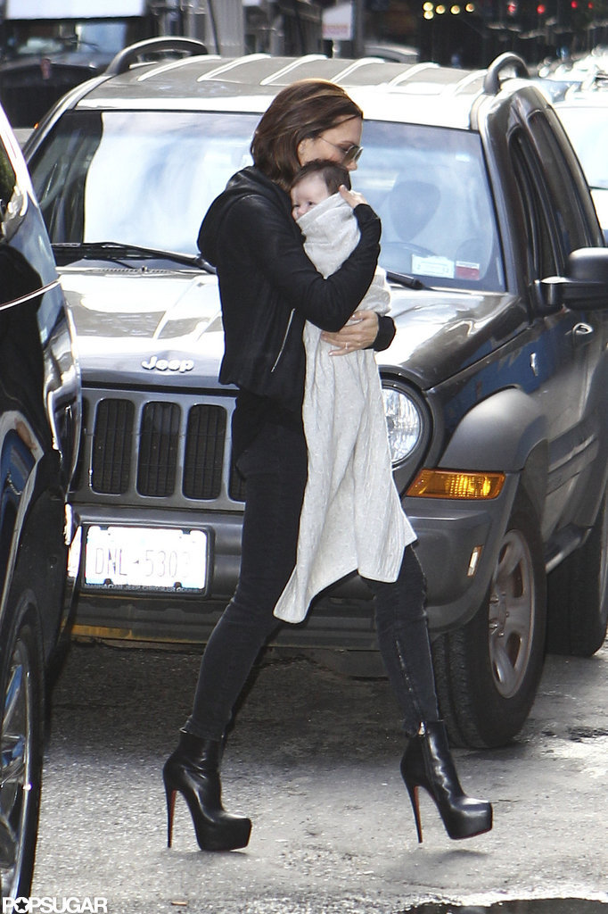 Victoria Beckham showed Harper Beckham around NYC in September 2011.