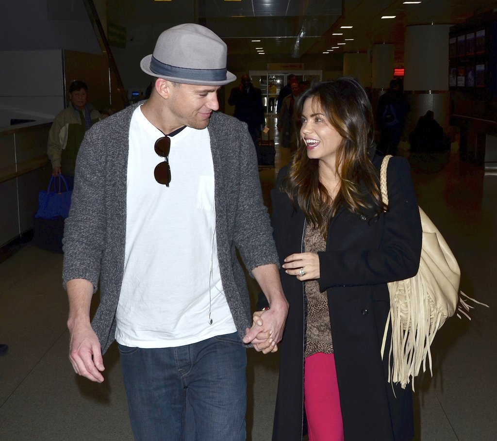 Channing Tatum and Jenna Dewan held hands in NYC during a February 2012 trip.