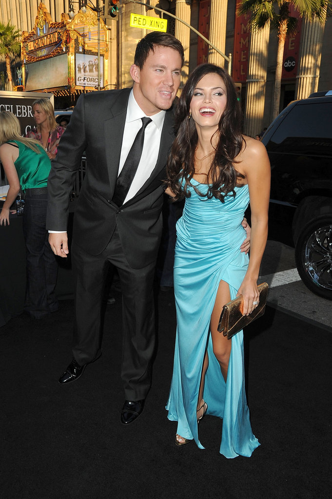 Jenna and Channing shared a laugh at an LA event in August 2009.