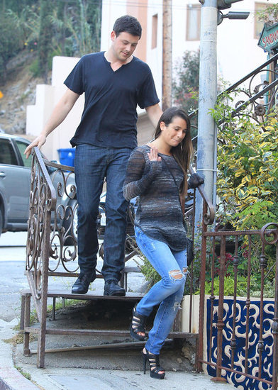 Cory Monteith and Lea Michele grabbed a bite.