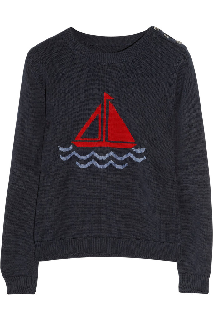 Don't travel seaside without a healthy selection of lightweight knits. This nautical-inspired version is totally in sync with your picturesque surroundings. Aubin & Wills Melksham Intarsia Knitted Cotton Sweater ($145)