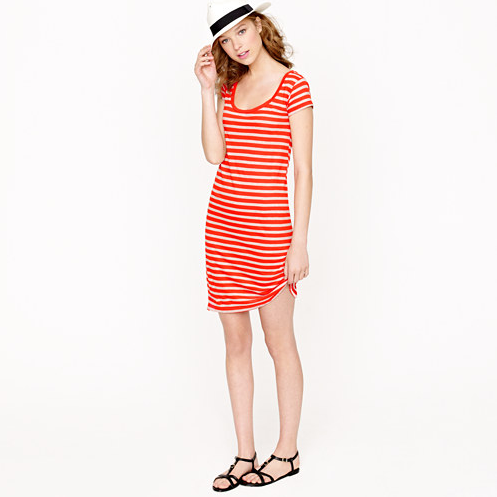 The simple silhouette is super flattering — and the red and white stripes are classically Summer. J.Crew Striped T-Shirt Dress ($50, originally $68)