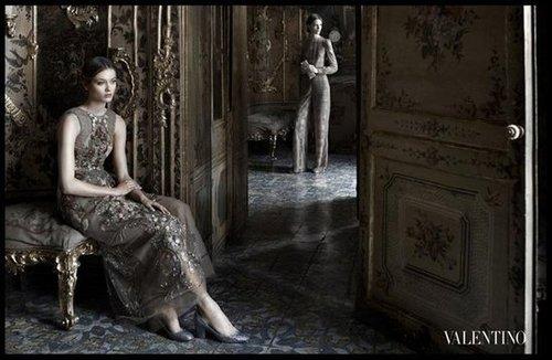 Valentino spared no romantic detail in its dreamy Fall ad campaign.