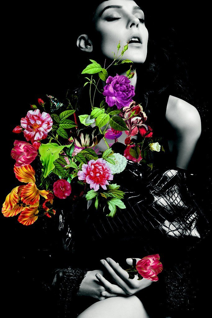 Nina Ricci strikes a chord with its dark glamour and bright floral offset.