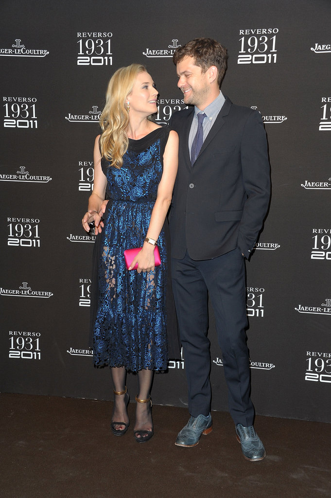 Diane Kruger and Joshua Jackson shared a laugh at a Paris party in June 2011.