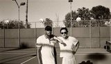 Donald Faison and Zach Braff got together for a game of tennis. Source: Twitter user zachbraff
