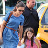 Katie Holmes With Suri at Chelsea Piers