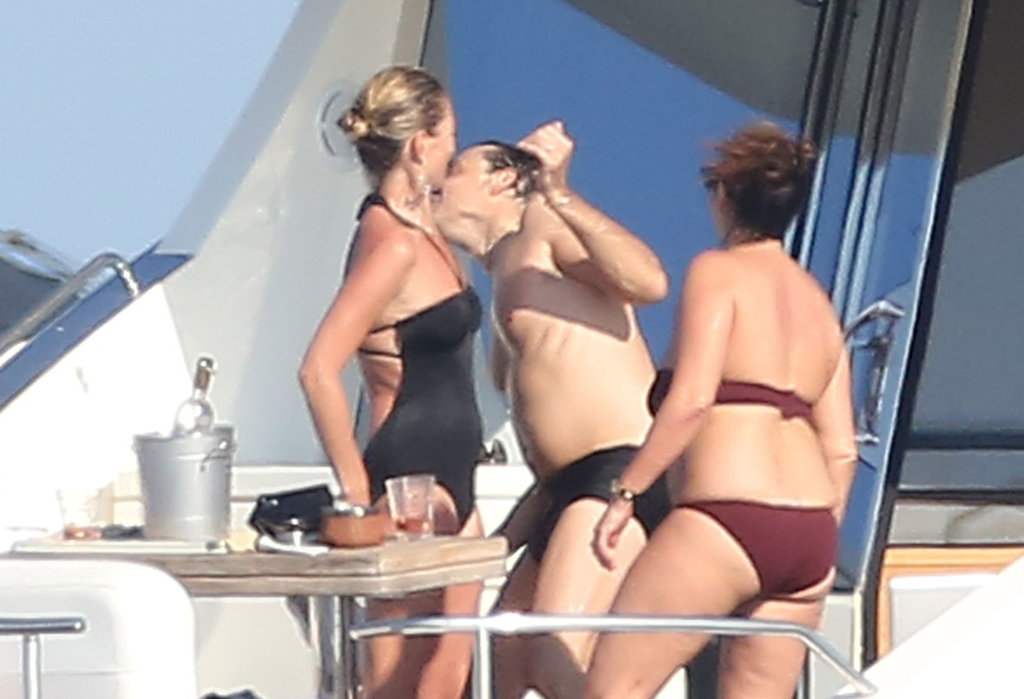 Kate Moss horsed around with husband Jamie Hince.