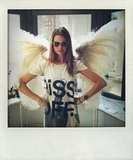 Behati Prinsloo got her wings at a Victoria's Secret fitting. Source: Twitter user BeePrinsloo