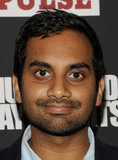Aziz Ansari posed at the Shut Up & Play the Hits screening party in NYC.