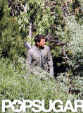 Tom Cruise was camouflaged on the Oblivion set in CA.