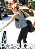 Miley Cyrus got in her car.