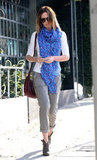Emily Blunt left the Salon Benjamin in West Hollywood.