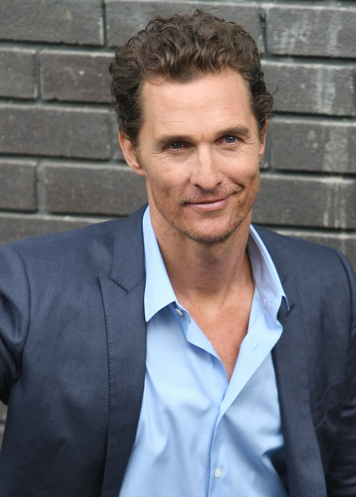 Matthew McConaughey smiled for the cameras in London.