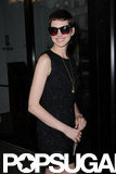 Anne Hathaway wore a black Dolce & Gabbana dress to the Shut Up & Play the Hits screening in NYC.