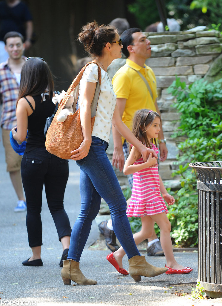 Katie Holmes and Suri Cruise strolled in Central Park.