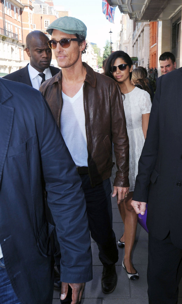 Matthew McConaughey and Camila Alves stepped out in London.