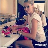 Doutzen Kroes autographed t-shirts to be auctioned off to benefit a children's hospital. Source: Doutzen Kroes on WhoSay