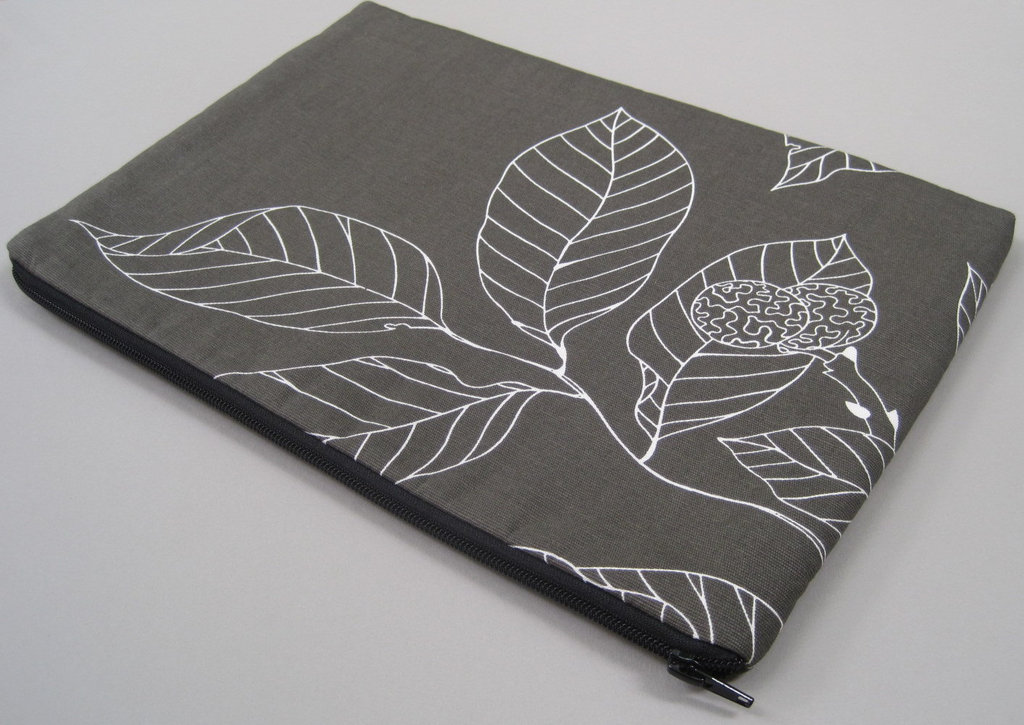 Canvas Leaf Print Laptop Case/Cover ($26)
