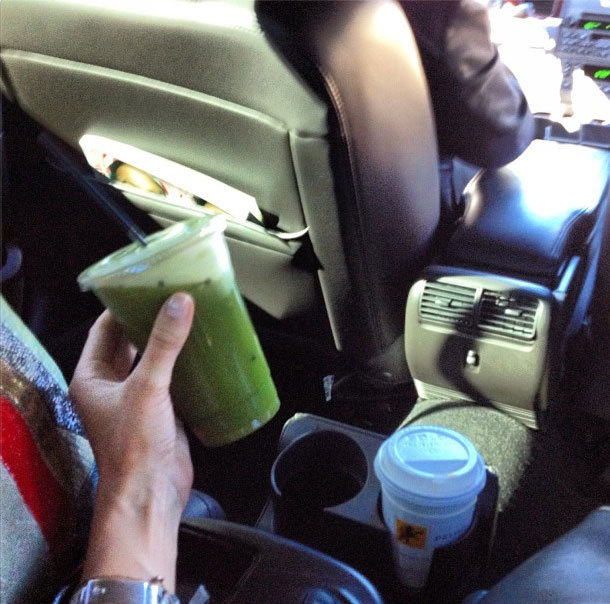 Blogger and designer, Elin Kling, hit the green juice.