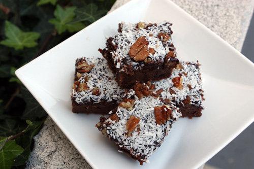 Healthy German Chocolate Brownies