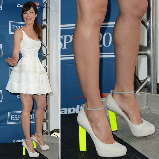 Unfortunately, Jessica's exact pumps are no longer available online, ...