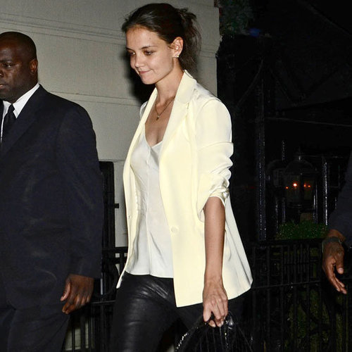 Katie Holmes Wearing Leather Pants